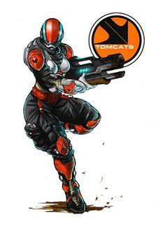 Tomcast arte conceptual Character Aesthetic, Character Concept, Character Art, Concept Art, Character Design, Infinity The Game, Infinity Art, Robot Animal, Futuristic Armour