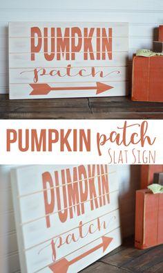 Pumpkin Patch Slat Sign - The Happy Scraps