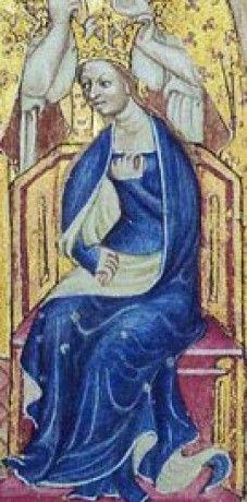 Anna Česká/Lucemburská, dcera Karla IV. římského císaře, českého, římsko-německého, italského a burgundského krále, hraběte lucemburského a markraběte moravského, manželka Richarda II. Plantageneta, krále anglického a francouzského a pána irského