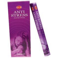 Encens Anti-Stress - HEM 20 grs. Encens réalisés dans la plus pure tradition indienne, 95% naturel. Calmant et apaisant.  www.laboutiquedubienetre.fr
