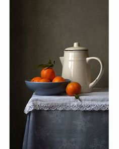 Still Life Art Photography Table Jug Fruit Bowl Grey Gray Cream Taupe Neutrals L. - Still Life Art Photography Table Jug Fruit Bowl Grey Gray Cream Taupe Neutrals Lace Tablecloth Colo - Still Life Flowers, Still Life Fruit, Still Life Drawing, Painting Still Life, Fruit Photography, Still Life Photography, Colour Photography, Photography Ideas, Coffee Photography