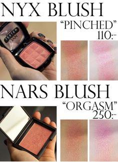 Dupes for high brand makeup bc I'm a broke bitch Mac Eyeshadow Dupes, Nyx Dupes, Nars Cosmetics, Beauty Dupes, Beauty Makeup, Face Makeup, Makeup Inspo, Makeup Ideas, Nyx Blush