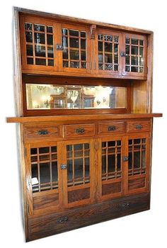 antique buffet built in as room divider - my aunt Mary had one exactly like this in her home, it was beautiful (just like she was)!