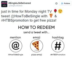 """#SingleLifeDelivered Free Pizza Delivered to You for Tweeting from """"How to be Single"""" Movie"""