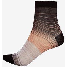 Missoni Lurex Striped Sock: Black ($98) ❤ liked on Polyvore featuring intimates, hosiery, socks, stripe socks, missoni, missoni socks, striped socks and lurex socks