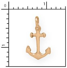 Nautical Jewelry - 14Kt 3-D Anchor, Anchors, 1-P7075