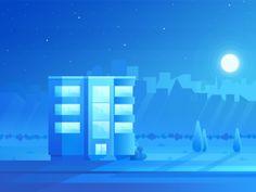 Blue building ( work in progress )