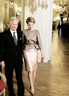 10 January: King Philippe of the Belgians and Queen Mathilde hosted theirNew Year's reception at the Royal Palace in Brussels.
