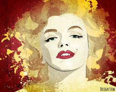 #MarilynMonroe by Maureen Stewart, Design Stew Gimme some love at www.facebook.com/designbystew #art #vector #illustration #portrait
