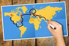 Hand tracking travel itinerary black felt tip marker world map — stock photo Felt Tip Markers, Travel Maps, Black Felt, Travel Scrapbook, Beach Trip, Cool Places To Visit, Trip Planning, Travel Inspiration, Crystals