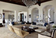 glorious white living room...home of Heidi Bassett Blair...Bijou and Boheme: I Want This House