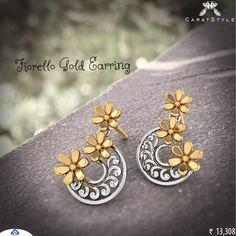 Gold #Earrings make her look very graceful #goldearring