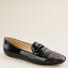 these will make you feel lucky without the penny.  darby glitter-toe penny loafers @ jcrew. of course.