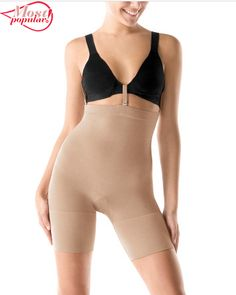 202fb8cb27729 SPANX Slim Cognito Shaping Mid-Thigh Body Briefer Shapewear. Slick yarns  won t cling to clothes. Slims tummy