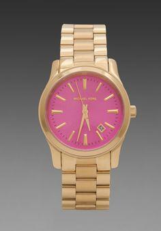 Michael Kors Runway Watch in Pink/Gold