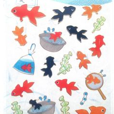 Japanese Stickers Scooping Fish in Summer by FromJapanWithLove, $6.00