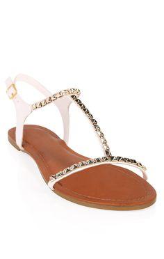 Deb Shops #sandal with #pyramid #studs