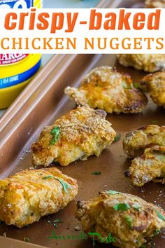 #ad Crispy chicken nuggets that are baked, not fried make for a perfect healthier family favorite meal that kids and adults both will love! Chicken nuggets are an American staple. It seems children can survive for years on a diet of almost solely chicken nuggets – I know this was the case for me. But, fried chicken nuggets simply won't do so it's much better and healthier to be eating baked chicken nuggets instead. | @avocadopesto #CrispyCreations #CollectiveBias #healthychickennuggets Fried Chicken Nuggets, Healthy Chicken Nuggets, Chicken Nugget Recipes, Asian Chicken Recipes, Crispy Baked Chicken, Chicken Pasta Recipes, Gluten Free Recipes For Lunch, Quick Dinner Recipes, Lunch Recipes