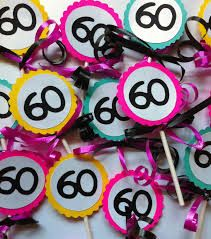 60th birthday party ideas - Google Search (For cupcake decorations)