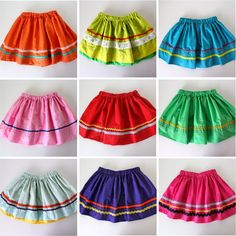 TUTORIAL: ¡Fiesta Skirts! for Cinco De Mayo | so, I know it's for kids, but I'm thinking it would be pretty cool on me!