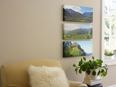 Trio of panoramic images on Shutterfly.com's Mounted Wall Art #decor