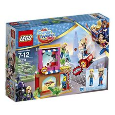 Join in the action-packed LEGO DC Super Hero Girls world as Harley Quinn battles the mischievous green Kryptomites at the Capes and Cowls Café. This great set features Harley Quinn and Steve Trevor m...