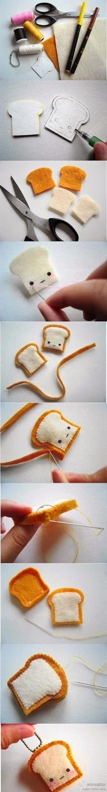 DIY Cute Little Bread Guys. I've pinned this before but I don't remember if it had a tutorial