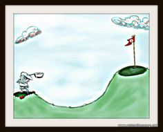 """Golf always looks this easy but seldom ever is..."" Duffy MacTaggart."
