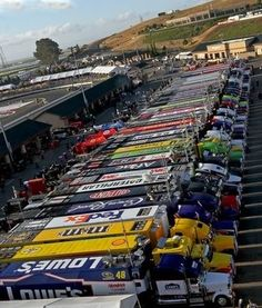 NASCAR haulers. This might be the coolest thing I've ever seen!