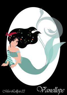 """It remains in the version """"Little Mermaid"""" with Vanellope in the guise of Ariel! I let you appreciate the little mermaid pretty bitch in this form there! Vanellope the mermaid candy Mermaid Disney, Mermaid Princess, Mermaid Art, Princess Melody, Sailor Princess, Disney Fan Art, Disney Love, Disney Stuff, Disney And Dreamworks"""