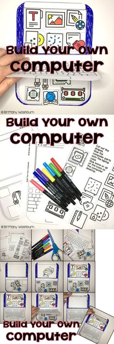 Your students are going to love learning about the parts of a computer while building their own on paper! These little laptops turn out so adorable you can't resist smiling when you see the finished products. In addition to the lift-the-flaps laptop, there is a matching page with definitions of the computer parts for a little added academics.