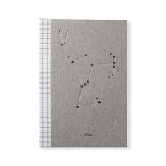 handmade notebooks from Seattle's Constellation & Co. feature a lovingly letterpressed constellation on the cover