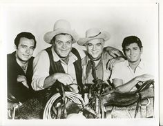 Bonanza-Lorne Greene-Michael Landon-Western-TV-8x10-B&W-Still-VG