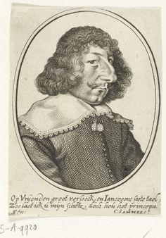 Simon Frisius | Portret van Janszoon, Simon Frisius, C. Sammers, 1595 - 1628 | Buste naar rechts in een ovaal met een tweeregelig onderschrift van C. Sammers.