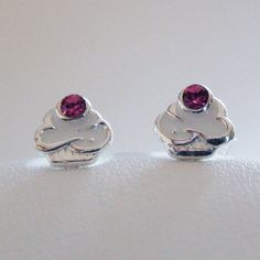 Tiny Cupcake Post Earrings - 925 Sterling Silver **NEW** Food Cupcakes #FashionJunkie4Life #Stud