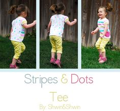 Ucreate: Stripes & Dots Tee Tutorial by Shwin and Shwin