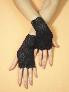Gothic Fingerless Gloves