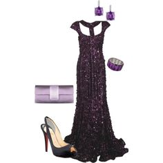 Elie Saab gown, Louboutin shoes and gorgeous accessories!