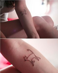 simple cat tattoos - Google Search