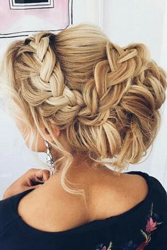 pretty and braided wedding hairstyle! find your dream wedding gown www.customdreamgowns.com