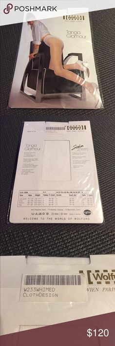 "Rare Wolford Tanga Glamour Tights - White Size M New Wolford Tanga Glamour ( 20 Den ) Tights - Color White, Size M ""Price Firm"" Discontinued, Super Rare Color White Hard to get in Wolford Tights. They are Satin Sheer with Cotton Gusset. Pairs Perfect with a Wedding Dress. Wolford Accessories Hosiery & Socks"