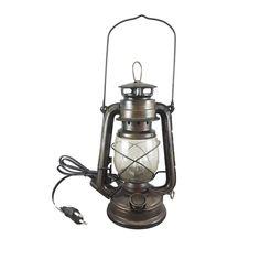 elektrische laterne lampe industrielle tisch lampe reproduktion bauernhaus beleuchtung railroad. Black Bedroom Furniture Sets. Home Design Ideas