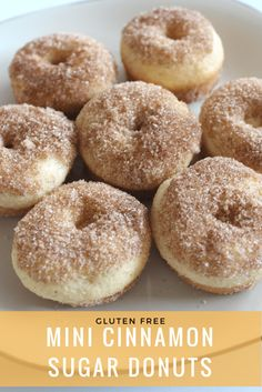 Gluten Free Cinnamon Sugar Donuts gluten free recipes| gluten free donuts | gluten free donuts recipes