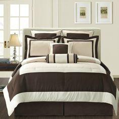 Gramercy California King Comforter Super Set - Bed Bath & Beyond Queen Comforter Sets, King Comforter, Bedding Sets, Bed Sheet Sets, Bed Sheets, Flat Sheets, Black Bedding, Brown Bedding, Silver Bedding