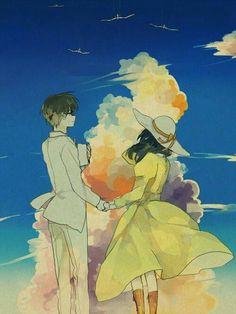 Some random pictures from the new Hayao Miyazaki film, 風立ちぬ Kaze Tachinu, or The Wind Rises in English. It's really the best love story Ghibli has ever made. Hayao Miyazaki, Studio Ghibli Films, Art Studio Ghibli, M Anime, Anime Love, Anime Art, Le Vent Se Leve, Otaku, Wind Rises