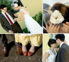 Love her veil! Real Wedding: Katie + Pauls Backyard Wedding in Northern Cali