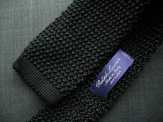 Ralph Lauren knit tie.