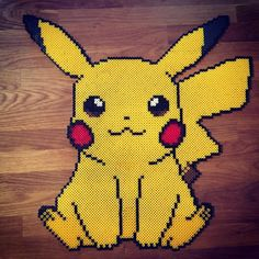 Pikachu hama beads by unpixable_