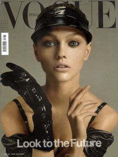 Sasha Pivovarova by Steven Meisel Vogue Italia December 2005