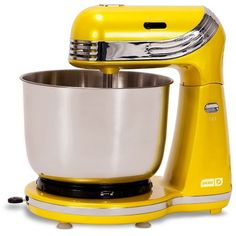 Dash Go 2.5-qt. Stand Mixer (Yellow) ($40) ❤ liked on Polyvore featuring home, kitchen & dining, small appliances, kitchen and yellow